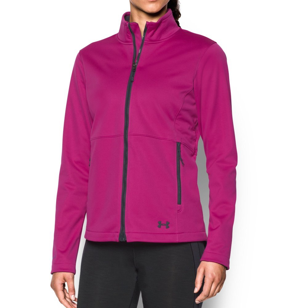 Under Armour Women's ColdGear Infrared Softershell Jacket, Magenta Shock/Stealth Gray, Medium