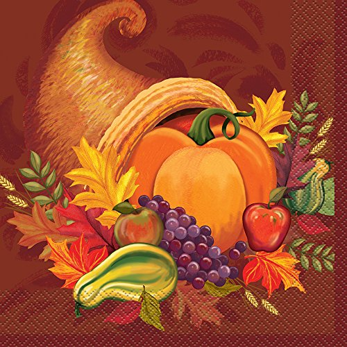 Fall Harvest Thanksgiving Party Napkins, 16ct (Napkins Thanksgiving Lunch)