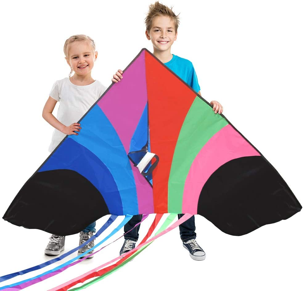 Tomi Kite – Huge Rainbow Kite - Ideal for Kids & Adults