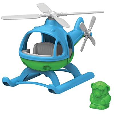 Green Toys Helicopter, Blue/Green: Toys & Games
