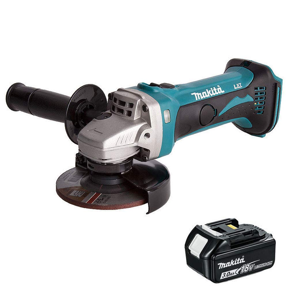 Makita DGA452Z 18V 115mm Cordless Angle Grinder With 1 x 3.0Ah BL1830 Battery