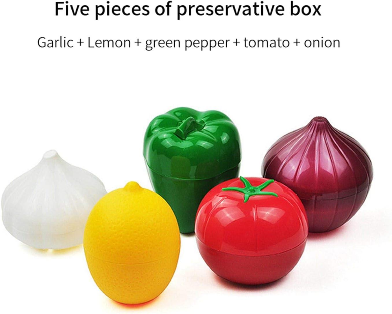 Creative Food Crisper Vegetable Containers Onion Lemon Fresh Storage Box Tool 1x