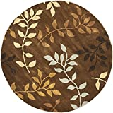 Safavieh Soho Collection SOH833A Handmade Brown and Multi Premium Wool Round Area Rug (6′ Diameter)