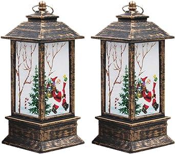 LIOOBO decoraciones de linterna de navidad centros de mesa ...