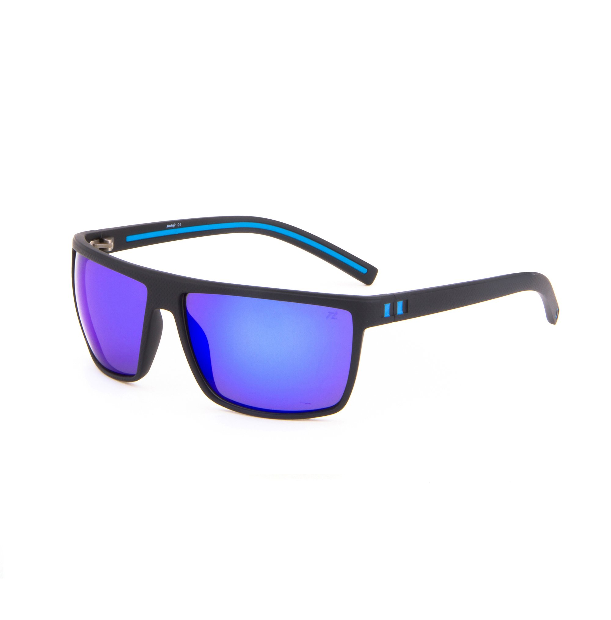 Tacloft Wayfarer 62mm Polarized Sunglasses TR008 (Black Blue Frame/Revo Blue Lens) by Tacloft