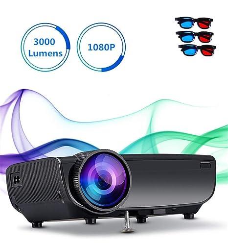 Amazon.com: Proyectores 3000 lúmenes proyector con WiFi ...
