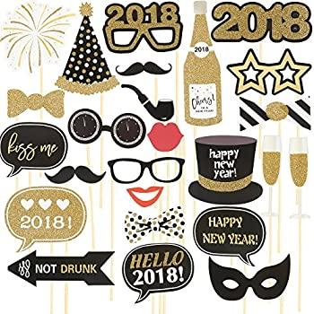 25pack photo booth props set new years party supplies party props
