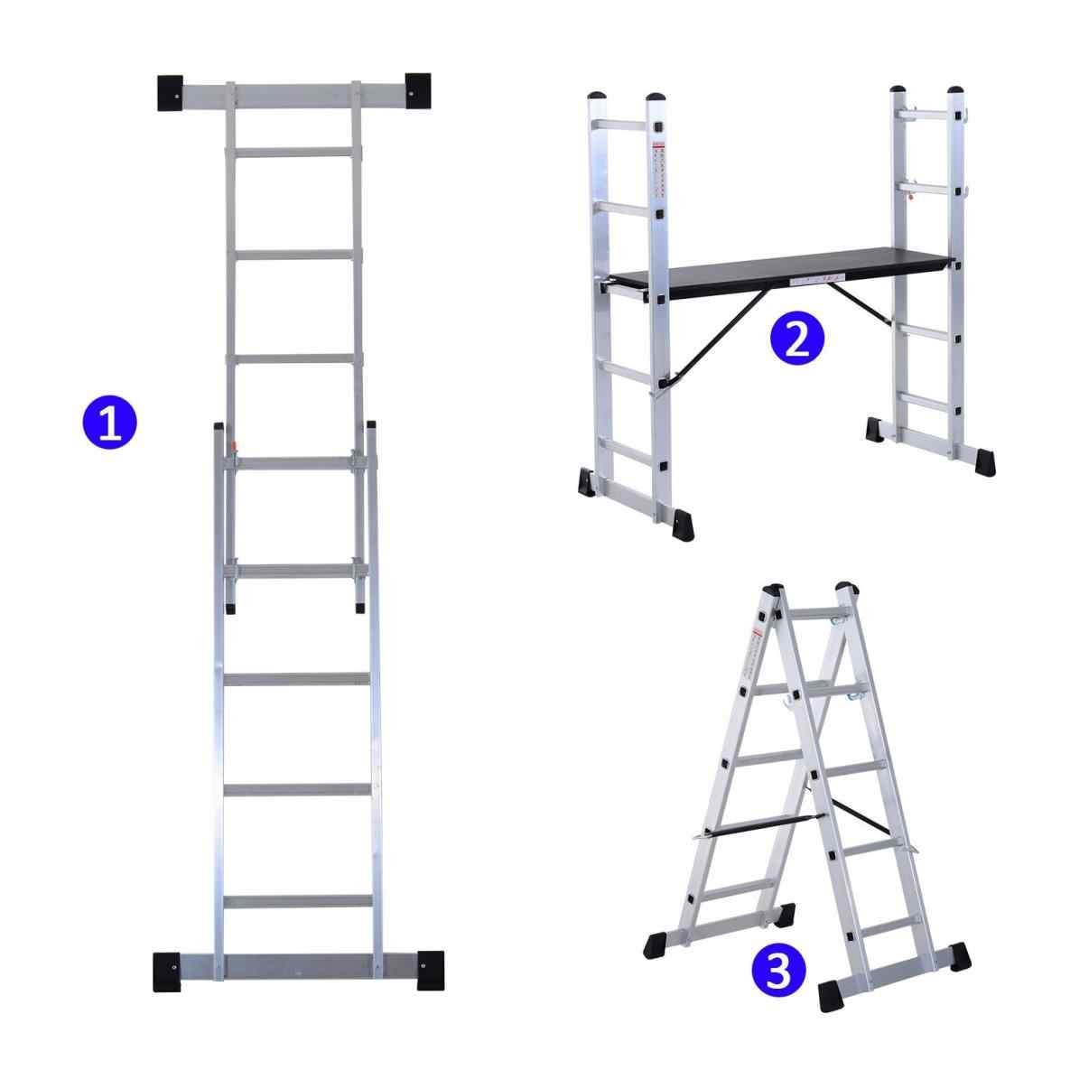 Aluminium Scaffolding Ladder Multi Combination Multi-Purpose Step Scaffold Platform SaleemExpress