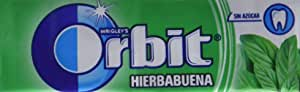 Orbit Chicles Sabor Hierbabuena - Paquete de 30 x 14 gr - Total: 420 gr