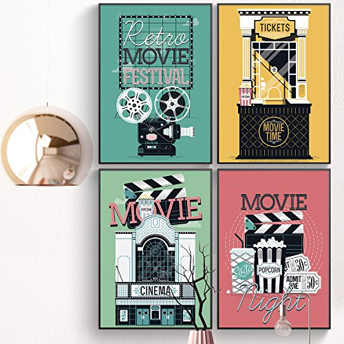 LIMITED EDITION: New Classic Movie Poster, Set Of FOUR 11x17, Movie Theater Wall Decor, Home Theaters Wall Art Prints, Classic Movie Poster Ready To Place On - Frame Are Tell How Size What You To