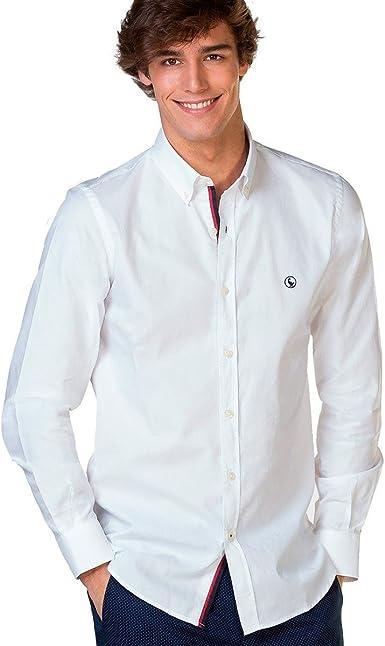 El Ganso Classic Fit Yale Camisa Casual, Blanco, Medium (Tamaño del Fabricante:39) para Hombre: Amazon.es: Ropa y accesorios