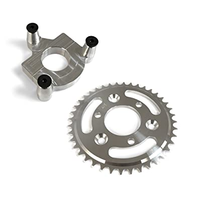 40 Tooth CNC Sprocket With Rear Wheel Hub Adapter : Sports & Outdoors