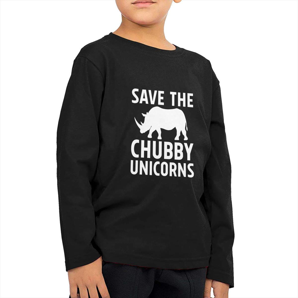 Cami Save The Chubby Unicorns Kids' Little Boys Girls Cotton Long Sleeve T-Shirts