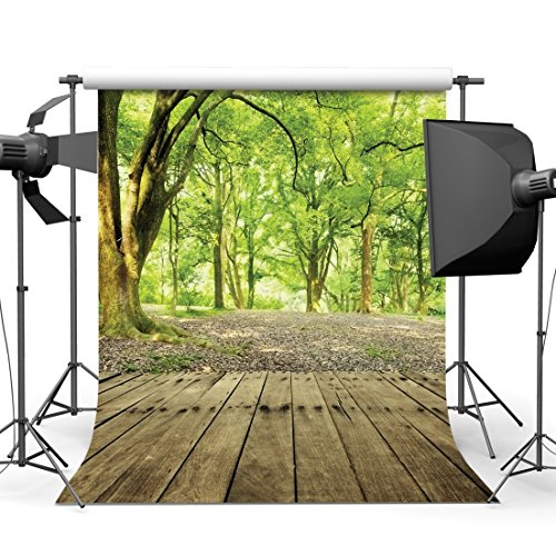Dudaacvt Virgin Forest Photography Backdrop 10x10ft Trees Path Wood Floor Photo Background Scenic Photo Shoot Studio Props Video Drop Vinyl Wallpaper Drape (Photos Scenic)