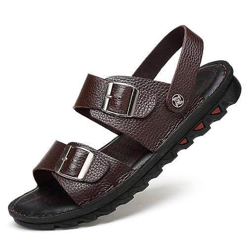 Jiyaru Sandalias Deportivas Verano Senderismo Hombres Chanclas Zapatos Trekking Playa Velcro Pescador Zapatillas Antideslizantes: Amazon.es: Zapatos y ...
