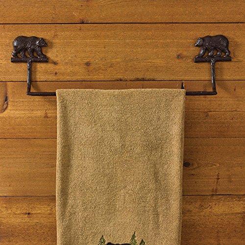 Park Designs, CAST BEAR TOWEL BAR 24 (Bar Towel Cabin)