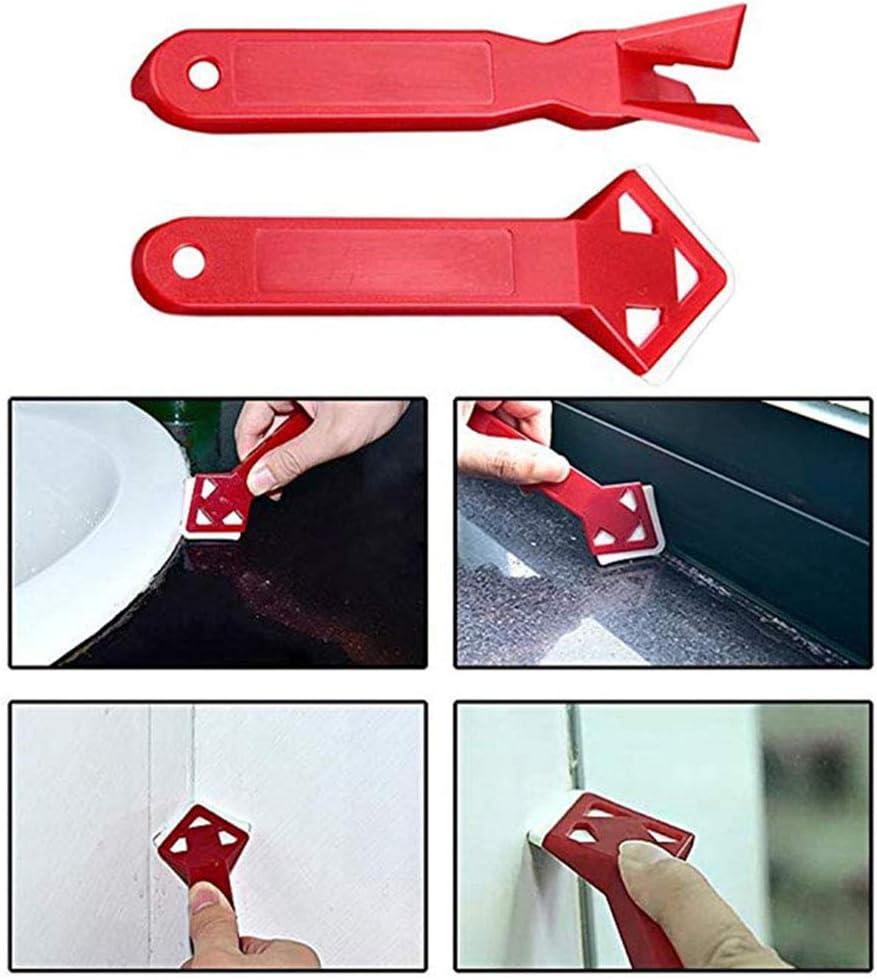 juego de raspador para cocina o ba/ño suelo Herramienta de junta para quitar silicona herramienta de calafateo multifuncional