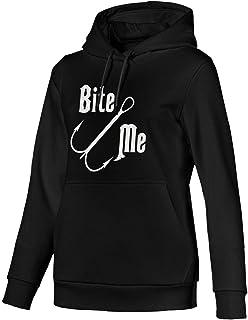 Bite Me Fishing Woman Cotton Hoodie Sweatshirts