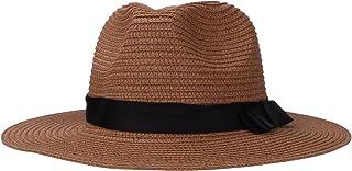 Stroh-floppy Sun-Hut, UVschutz-faltbares Papier gesponnene Panamaflachoberseiten-Band-Hüte Strand-Sonnenhüte