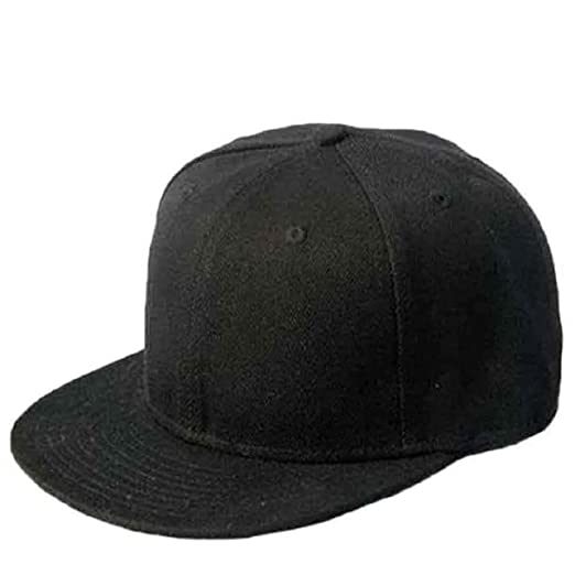Image Unavailable. Image not available for. Color  Welcomeuni Black Blank  Plain Snapback Hats Hip-Hop Adjustable Bboy Baseball Cap 1910b6a0cd79