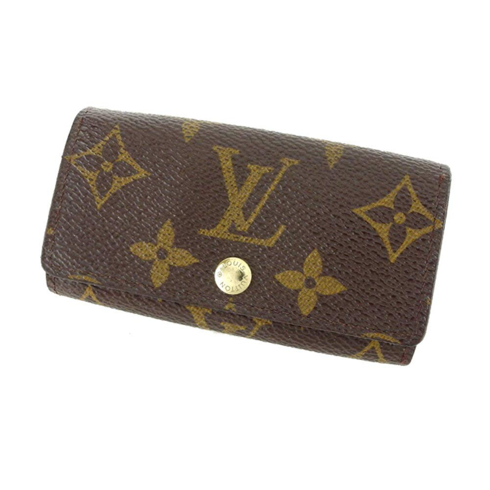 (ルイ ヴィトン) Louis Vuitton キーケース 4連キーケース ブラウン ベージュ ゴールド モノグラム レディース メンズ C3447   B07KLJGYN2