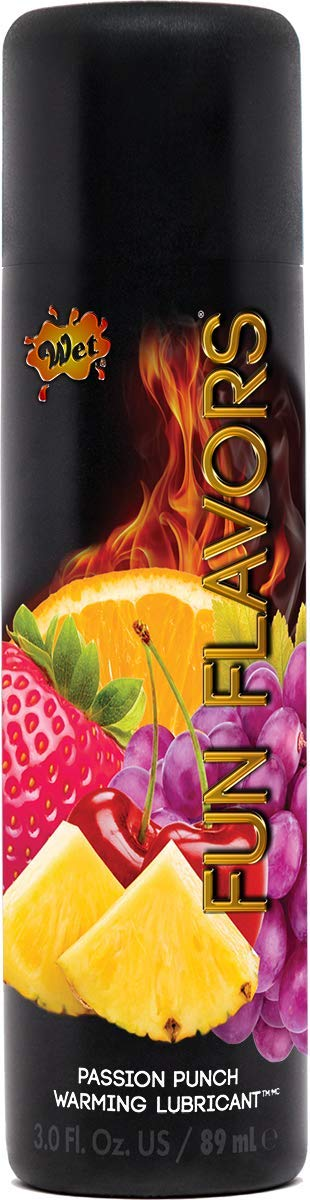 Wet Passion Fruit Flavored Lube, Fun Flavors 4 in 1 Warming Water Based Flavored Lubricant, 4.1 Ounce
