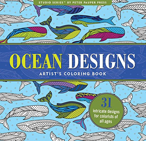 Ocean Designs Adult Coloring Book (31 stress-relieving designs) (Studio)