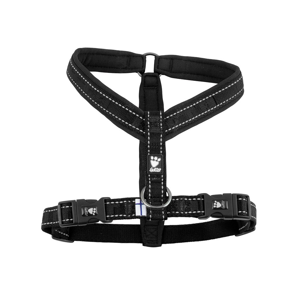 Raven 35-39\ Raven 35-39\ Hurtta Casual Padded Dog Y-Harness, Raven, 39 in