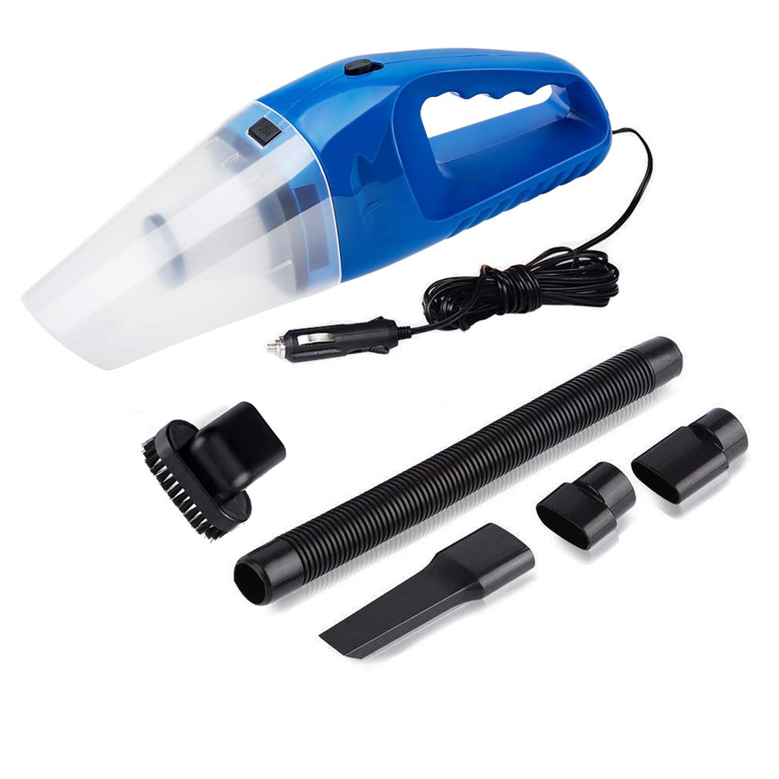 Car Vacuum Cleaner DC 12V Wet Dry Auto Dustbuster Portable Handheld Auto Vacuum Cleaner for Car 4000Pa Suction 120W Car Hoover with HEAP Filter & 5 Meters/16.4 FT Power Cord(1 Yr Warranty) Blue kokeo