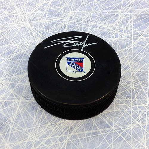 Adam Graves New York Rangers Autographed Hockey Puck - Signed Hockey Pucks