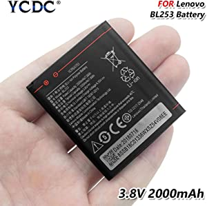 BL253 Battery 3.8V 2000mAh for Lenovo A2010 A1000 A2580 A2860 A3600D A3800D