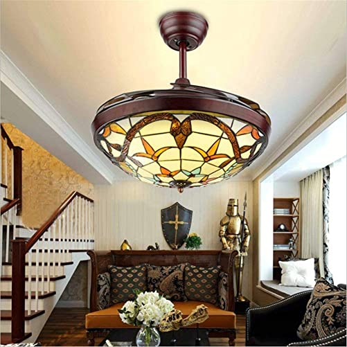 Frequency Conversion Retractable Ceiling Fans Light