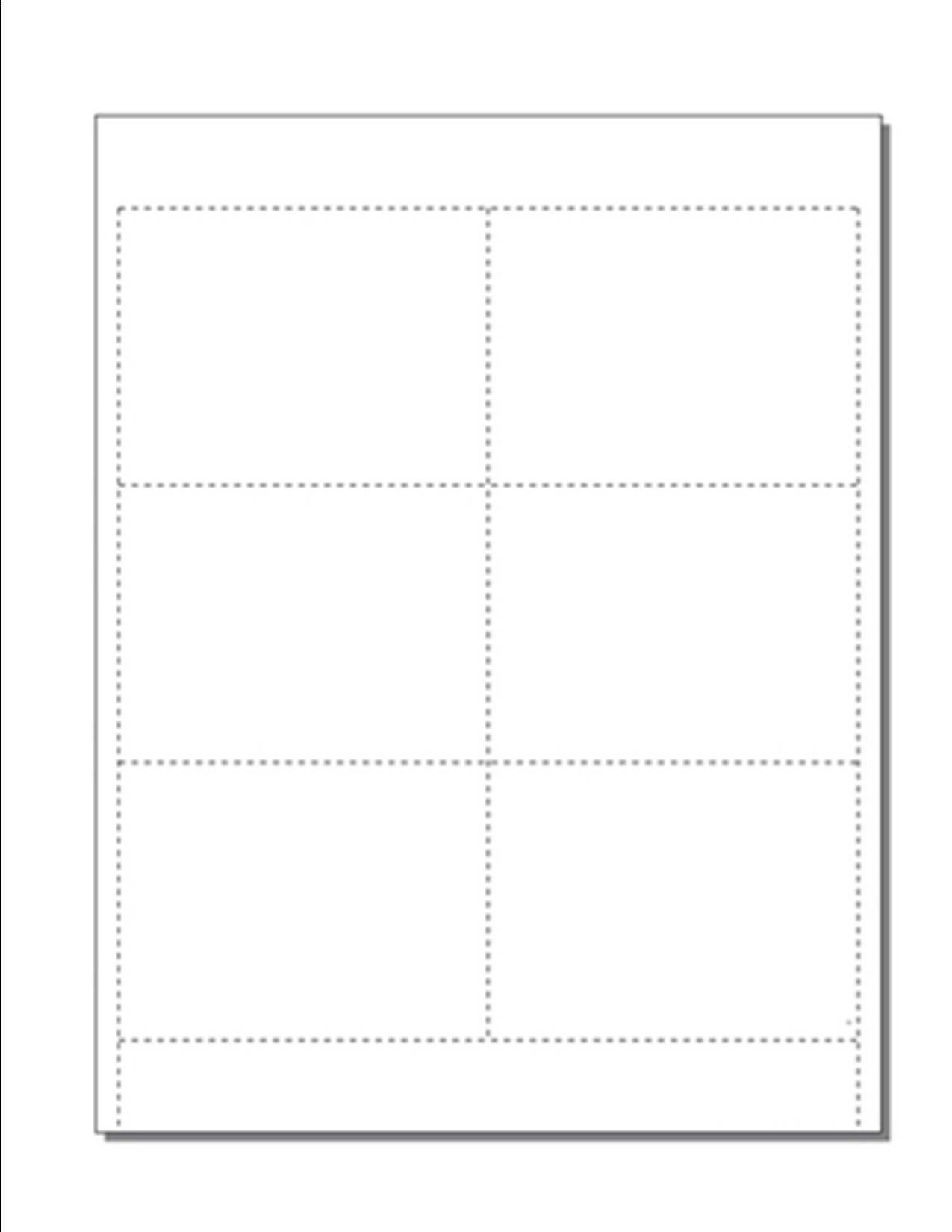 Blank Name Badge Inserts, Print-Ready on 8.5'' x 11'', 67-lb White Vellum, 6 Badges Per Sheet (4'' x 3'') - 100 Sheets