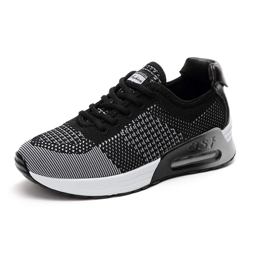 ZHRUI Damen Turnschuhe Laufschuhe Luftkissen Atmungsaktive Schuhe Schuhe Schuhe Jogging Ladies Turnschuhe (Farbe   Schwarz-Weiss, Größe   6=37 EU) 9c3cfa
