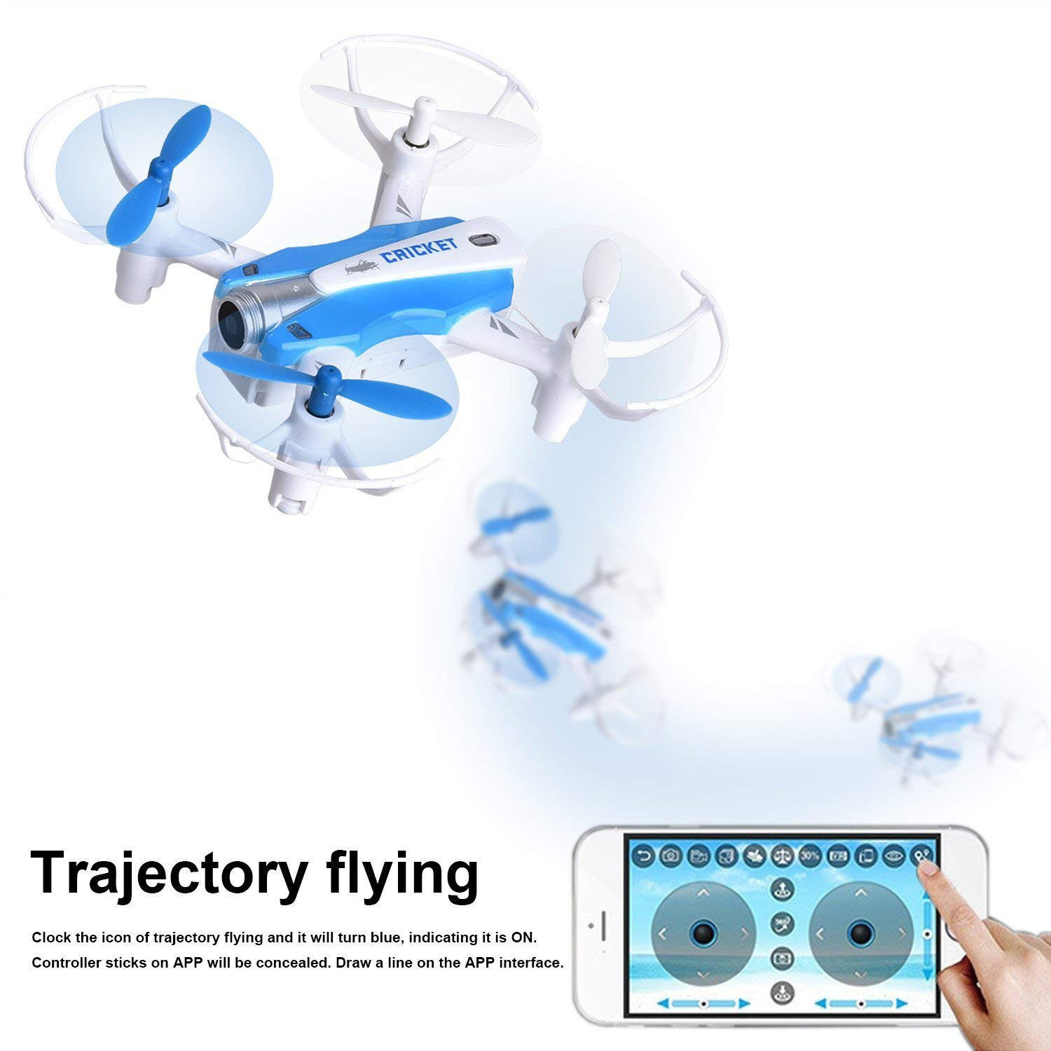 WANG XIN Christmas Air Pressure Fixed high Mini Four-axis Self-Timer Mobile Phone Remote Control Aircraft by WANG XIN (Image #5)