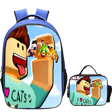 b1614d48947b Amazon.com: Unlimitedfy Roblox Backpack with LUN Box Bag Game Fans ...