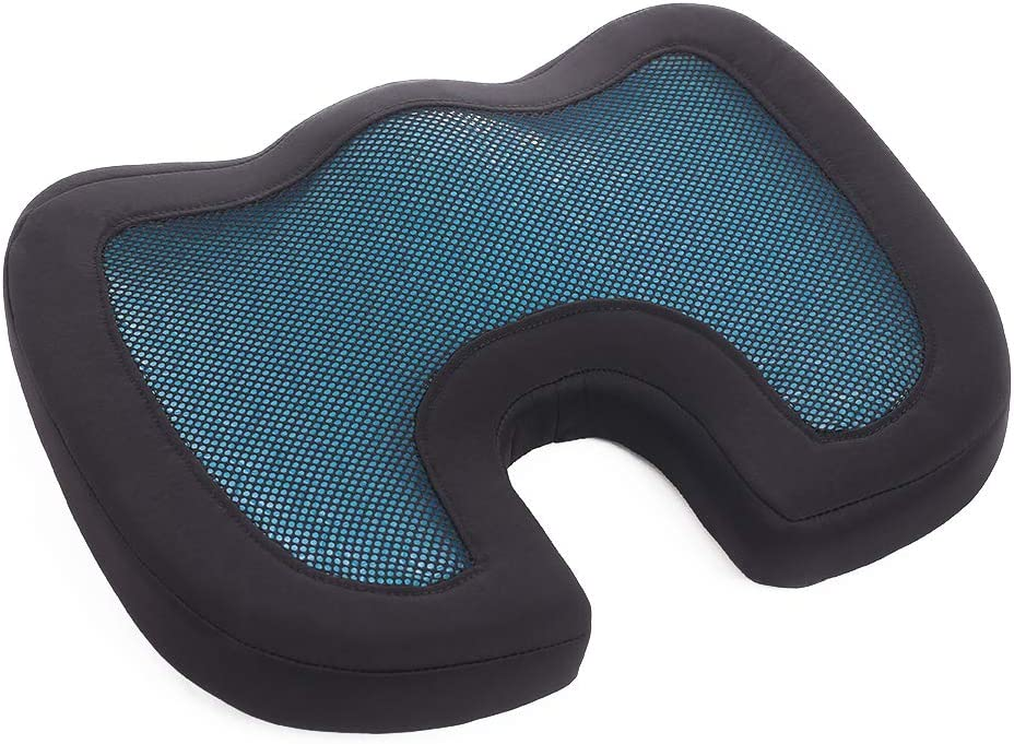 Seat Cushion Car Office Chair Pad – 100% Memory Foam Comfortable Seat Cushion Sciatica Pillow Soft Gel U-Shaped Butt Pad for Tailbone Pain & Back Pressure Relief