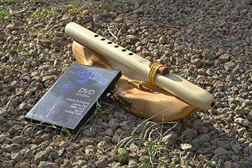 Windpony key of A 6-hole Unfinished Poplar Native American Style Flute with DVD