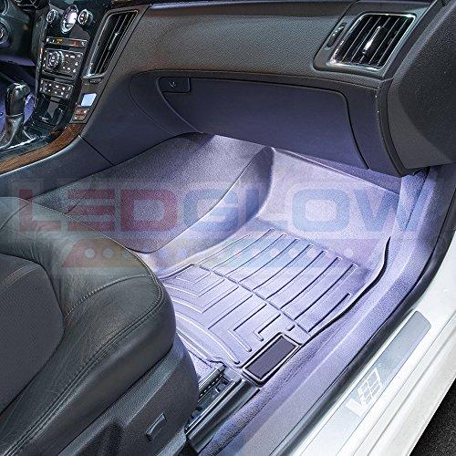 LEDGlow-4pc-Multi-Color-LED-Car-Interior-Underdash-Lighting-Kit-Universal-Fitment-Music-Mode-Auto-Illumination-Bypass-Mode