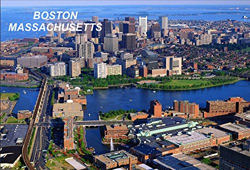 Massachusetts USA United States Fridge Refrigerator Magnets (City: Boston #R2) (Fridge Magnets Usa Cities compare prices)
