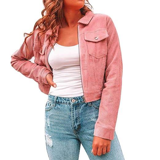 Amazon.com: AOJIAN Women Jacket Long Sleeve Outwear Corduroy ...
