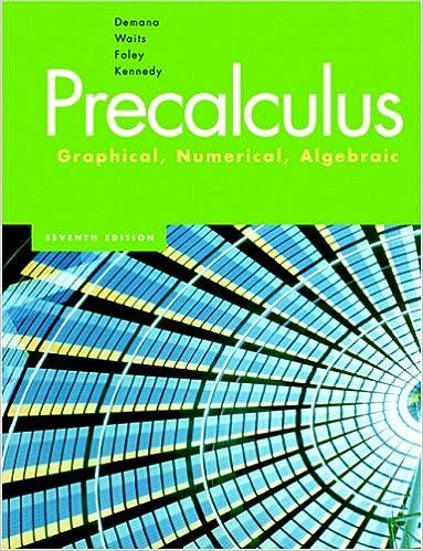 Precalculus Graphical Numerical Algebraic 7th Edition Franklin