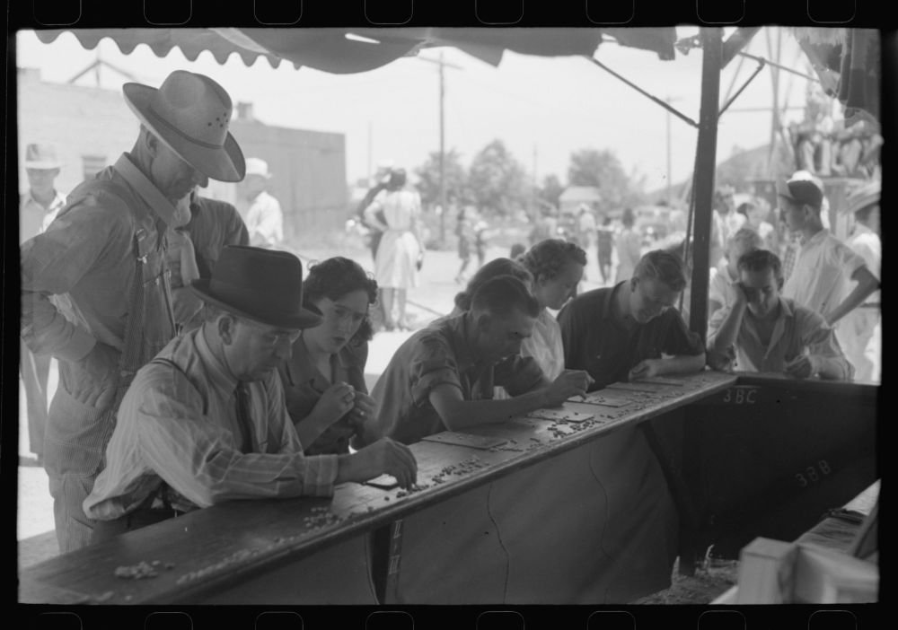 Historic Photos 1941 Photo Bingo players on the Fourth of July, Vale, Oregon Location: Oregon, Vale