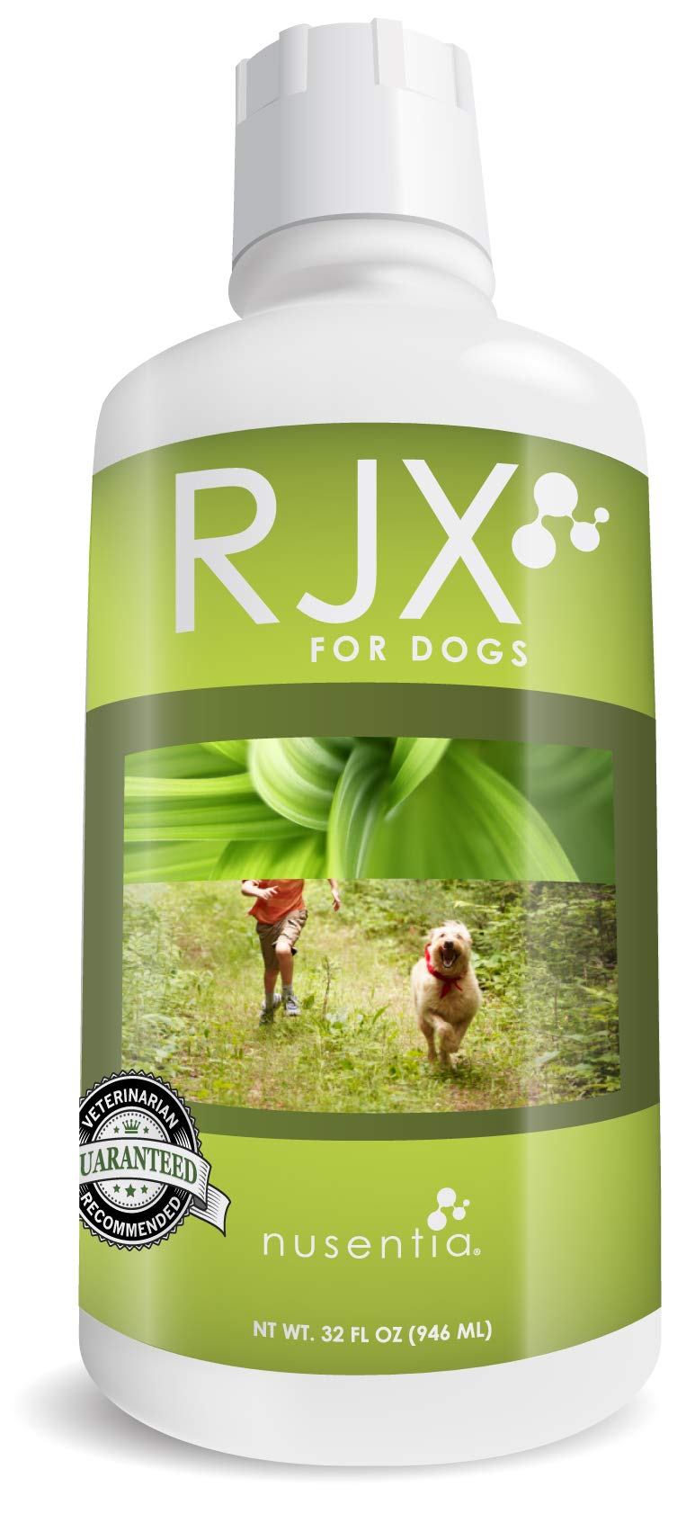 NUSENTIA Glucosamine for Dogs : RJX Canine Joint Support with Chondroitin and MSM. Ideal for Hip & Joint Problems, Arthritis, Pain, and Senior Dogs. Vet Recommended. All Natural. (32 oz) by NUSENTIA