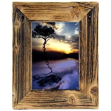 Bilderrahmen Holz Rustikal amazon de bilderrahmen aus echtem alt holz im landhaus stil vintage
