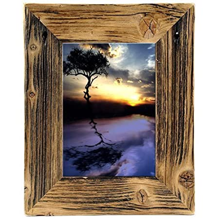 Picture Frame Real Antique Wood Country House Style Vintage Rustic ...