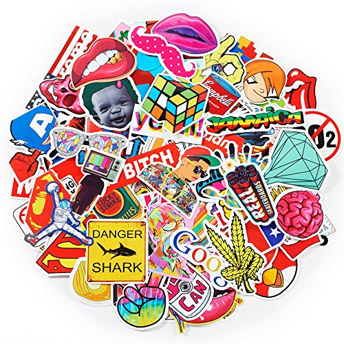 200-Pack SuprCool Stickers - Laptop Cellphone Pad Skateboard Luggage Car Motorcycle Bicycle - Random Sticker Set