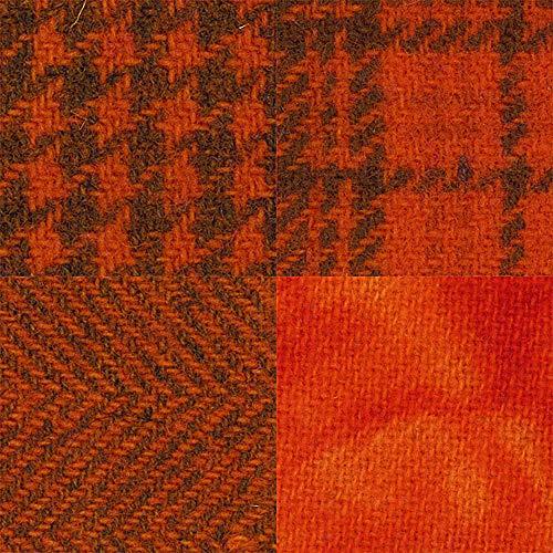 Primitive Gatherings Hand Dyed Wool Oriole 4 15 inch x 25 inch Cut Pieces Moda Fabrics PRI 5531