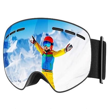Mpow Gafas de esquí, Snowboard Gafas con protección UV Anti-Niebla Intercambiables Lente esférica