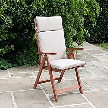 BillyOh Deluxe silla reclinable de jardín cojines, natural: Amazon ...